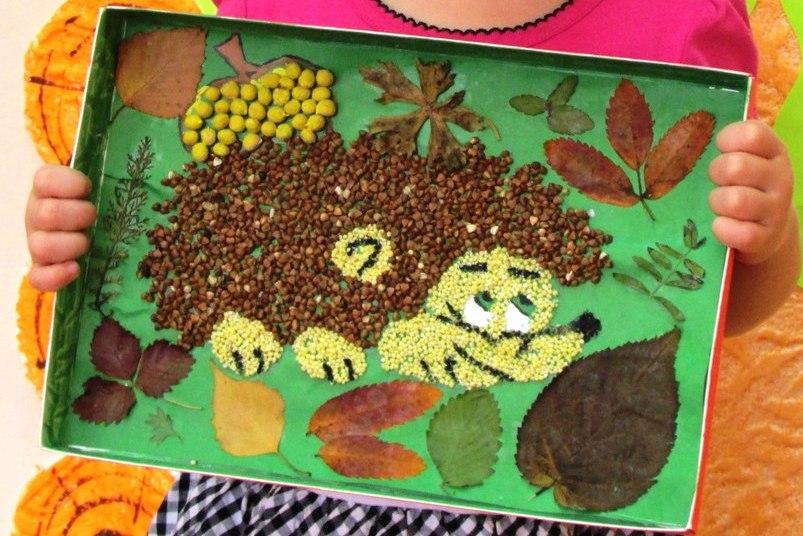 Поделки из крупы своими руками для детей в детский сад