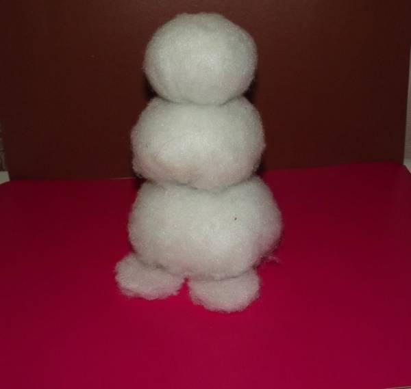 Снеговик из синтепона своими руками пошаговое