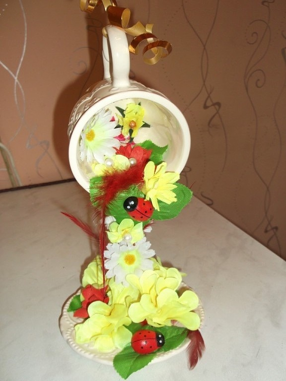 Поделка водопад из цветов своими руками 68