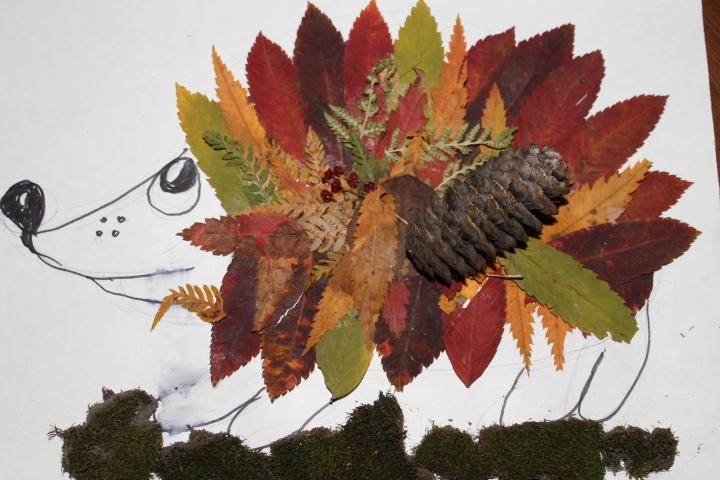 Поделки из листьев мха и листьев