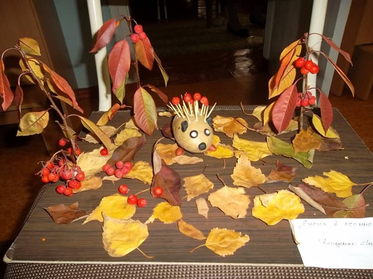 Ежик в осеннем лесу - Мастерица Осень (дети 2-5 лет ...