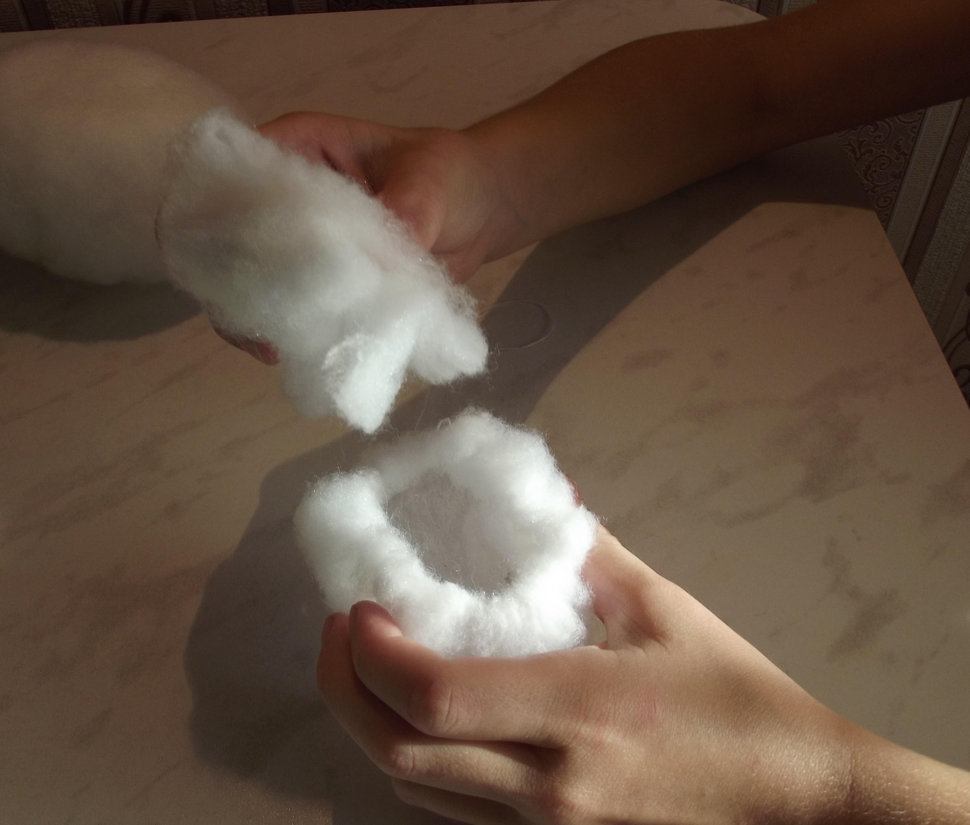 Как сделать снежок из синтепона