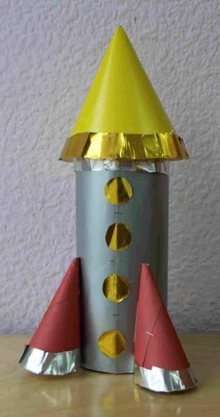 Как сделать ракету своими руками из цветной бумаги