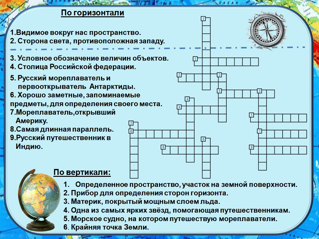 Кроссворд на тему географическая карта тема 2 класс