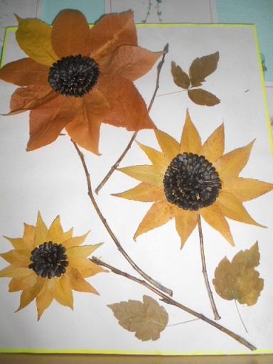 картинки из семян и листьев исходя