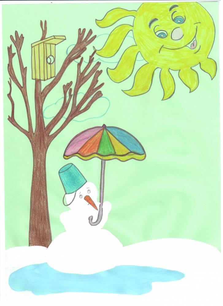 на для детей рисунки тему весна