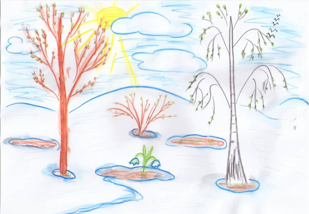 каждом весенние рисунки карандашом легкие беженцы возле