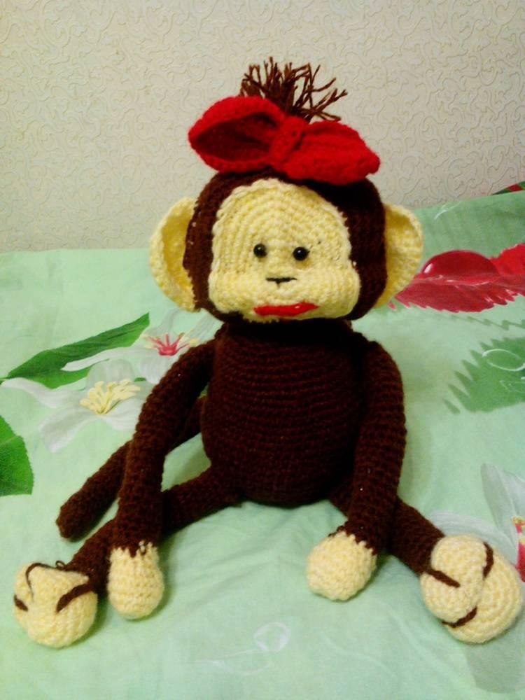 Вязание обезьянки бони 63