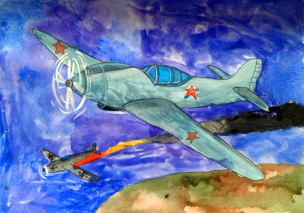 рисунок к победе самолет