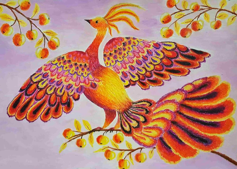 Жар птицы цветные картинки