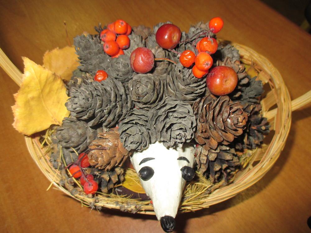 Осень ежик поделка из семечек