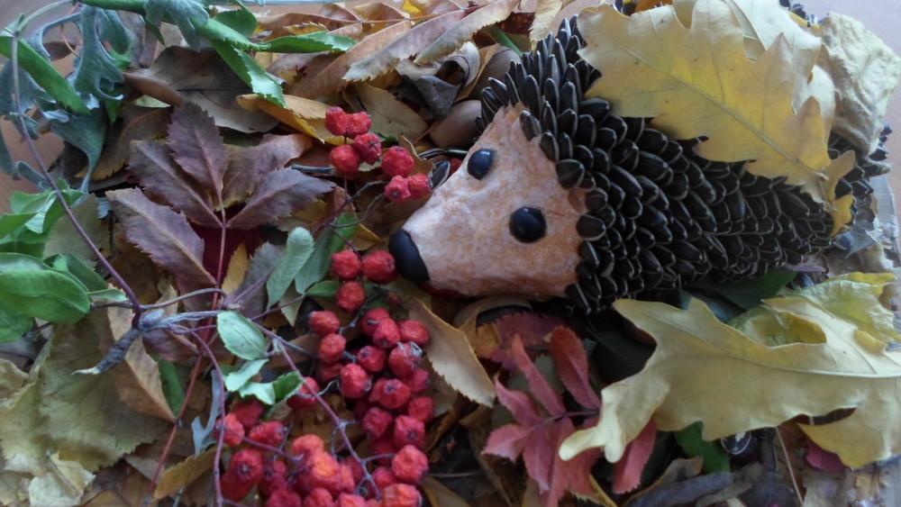 Поделки на осень ежик