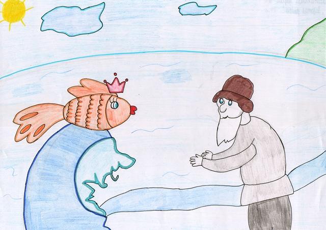 Иллюстрация к сказке золотая рыбка рисунки