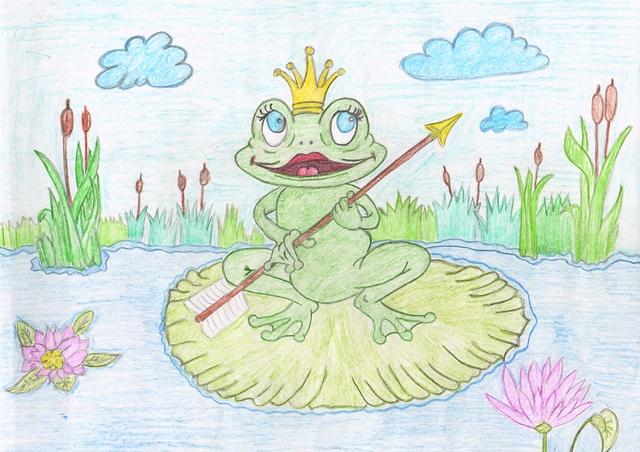 поет большом сказка по сюжетным картинкам царевна лягушка черно белые горой